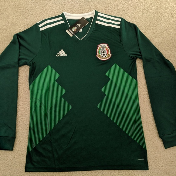 6202e50d1 adidas Mexico Long Sleeve Home Jersey 2018 FIFA